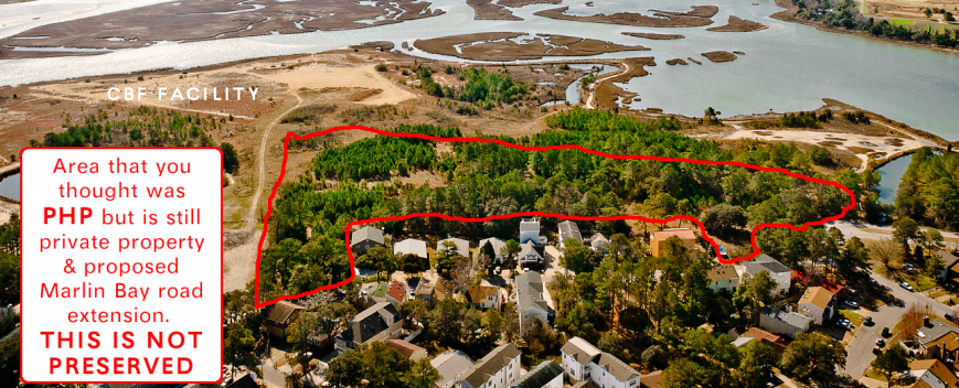 Note the amount of trees and vital habitat that is at risk for destruction. Birds, including those migrating in the Atlantic Flyway, depend on Pleasure House Point and it's open space to survive.