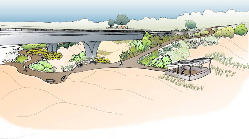 Landscaping Concept Under Bridge