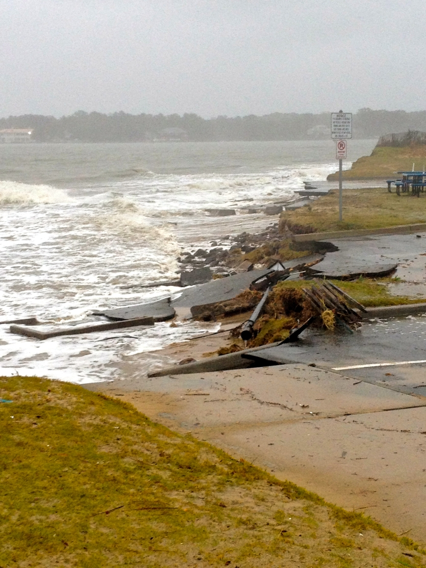 unexpected damage at Lynnhaven Boat Ramp from Sandy Oct 2012
