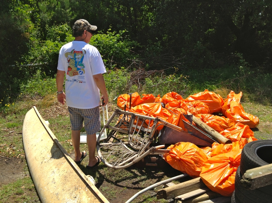 That's a pic from Clean the Bay Day last year with some of the trash we picked up. Steve Pahno, of Dominion Printers, has been the team captain since day 1 for CTBD pn PHP.