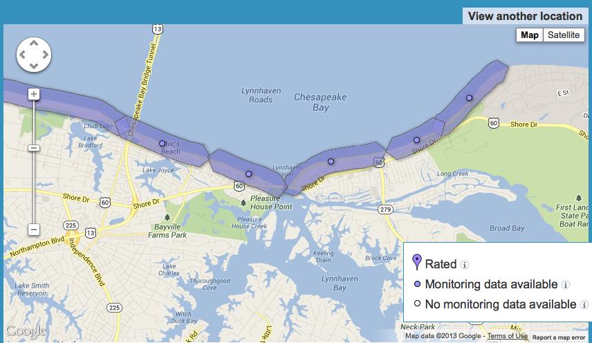 Screenshot of interactive map