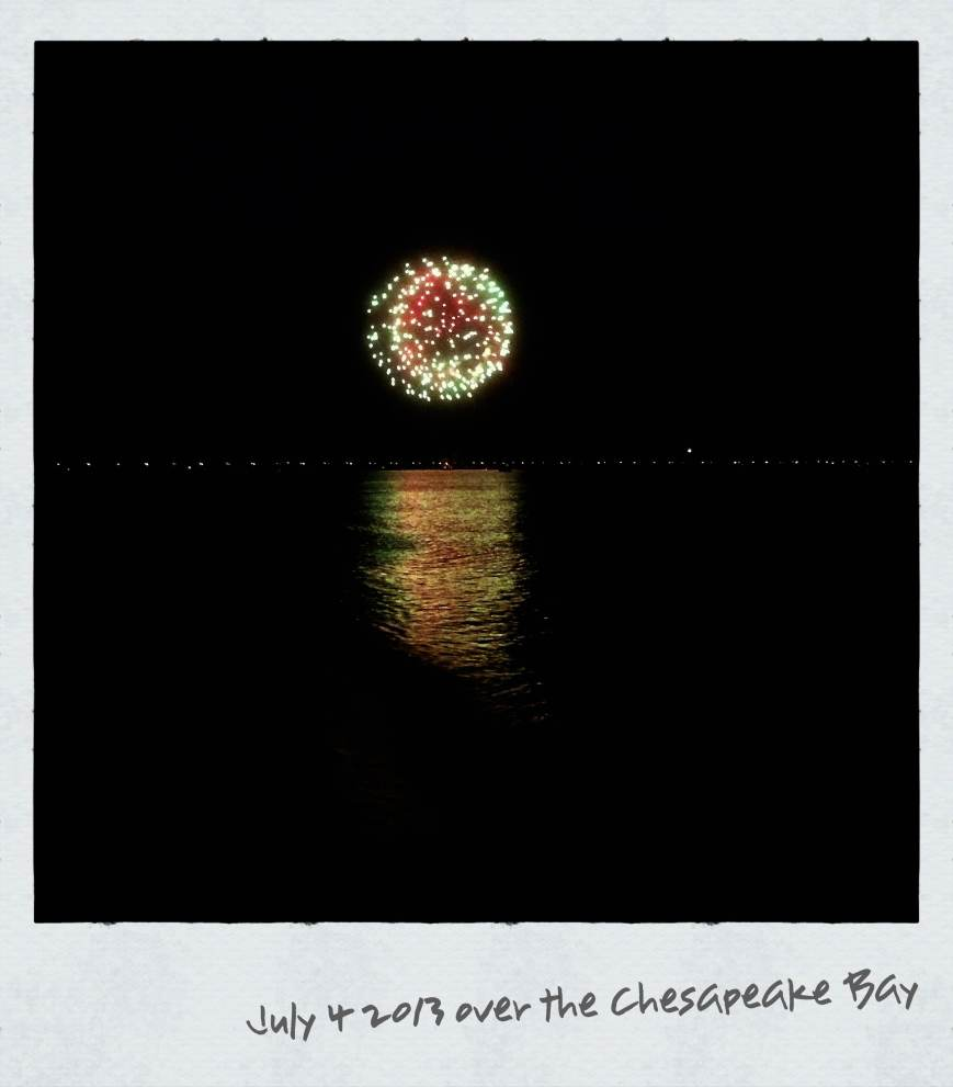 July 4th 2013 over the Chesapeake Bay