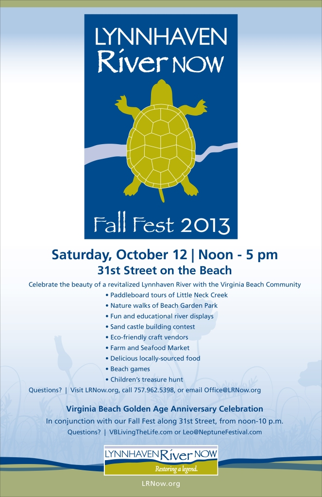 Come out for the Lynnhaven River NOW Fall Festival this Saturday!