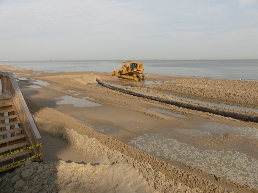 Beach replenishment thanks to needed dredging in the Lynnhaven