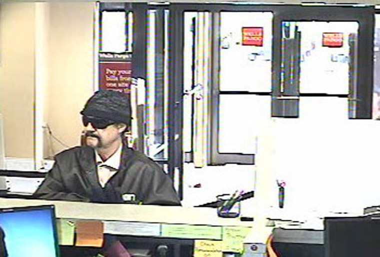 A man robbed the Wells Fargo on Shore Drive in Virginia Beach on Tuesday, March 25, 2014. (Courtesy of Virginia Beach Police)