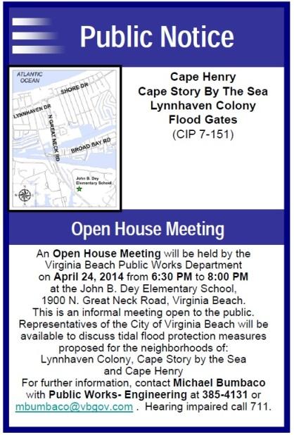 April 24th Flood Gate Notice