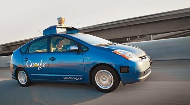 self-driving car on bridge