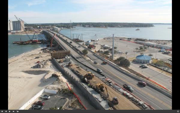 Screen shot of construction cam photo taken at 1130am DEC12 2014