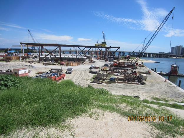 Pre-cast Concrete Segments for the New Lesner Bridge stored at Lynnhaven Dredge Material Storage Area