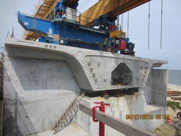Bridge Segment at Abutment A (Westbound Bridge)