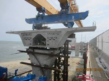 Bridge Segments at Pier #1 (Westbound Bridge)