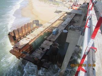 Cofferdam at Pier #7 (Westbound Bridge)