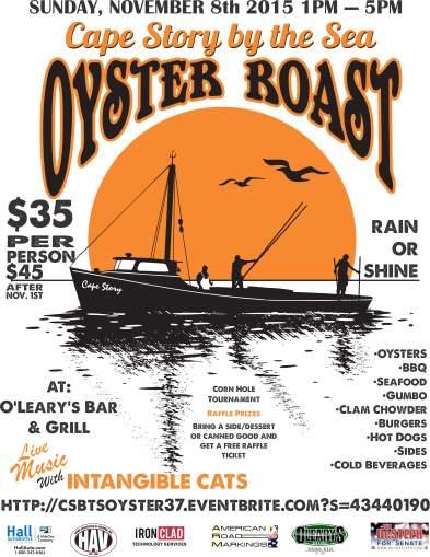 2015 Oyster Roast Flyer