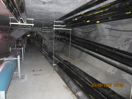 Water main, Power and Communications Conduit inside the new Westbound Lesner Bridge